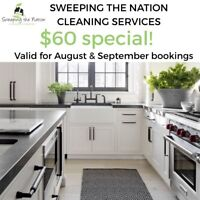 New client cleaning promotion $60