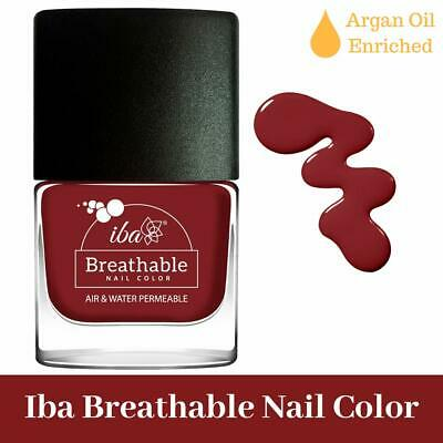 Iba Halal Care Breathable Nail Color, B08 Very Berry, Air & Water Permeable, 9ml