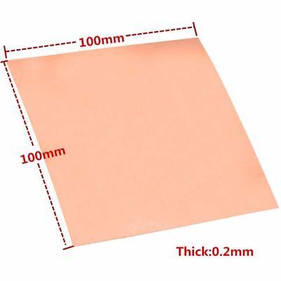 1pc 99.9 Pure Copper Cu Metal Sheet Foil Copper Plate 0.2100100mm Ca