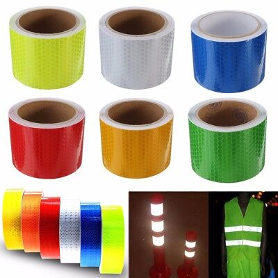 Safety Caution Reflective Tape Warning Tape Sticker Self Adhesive Tape 2 1m