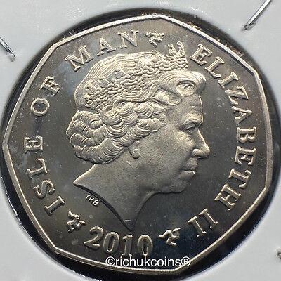 2010 IOM Xmas Diamond Finish 50p Coin