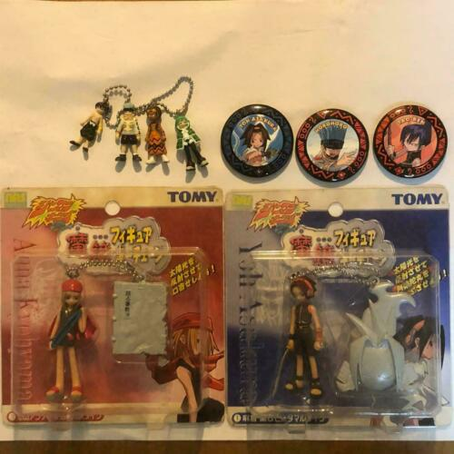 Shaman King figure charm & can badge from Japan Fedex