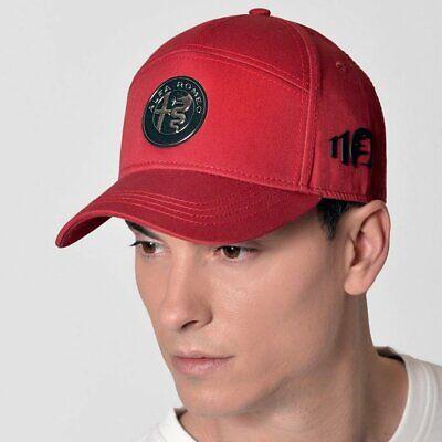 Alfa Romeo 110th Anniversary Emblem Baseball Cap Hat - Red -Official Merchandise