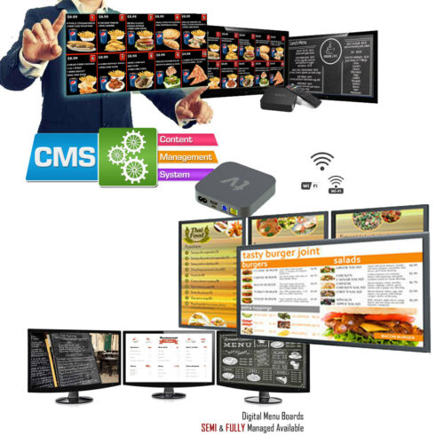 Digital Signage Players + Free CMS Signage Software + No Monthly Fees