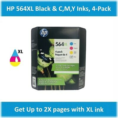 HP 564XL Black, Cyan, Magenta, Yellow Single or Multi-Pack Ink, EXPIRE 2020 !!!
