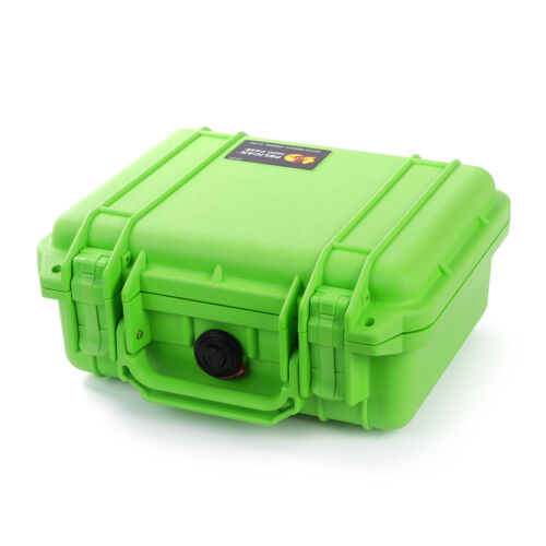 New Pelican 1200 Lime Green Case with Foam.