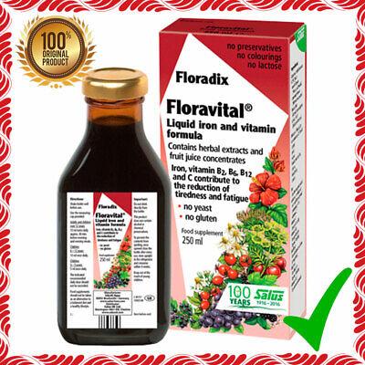 - Floradix Floravital Liquid Herbal Food Supplement Iron & Vitamin Formula