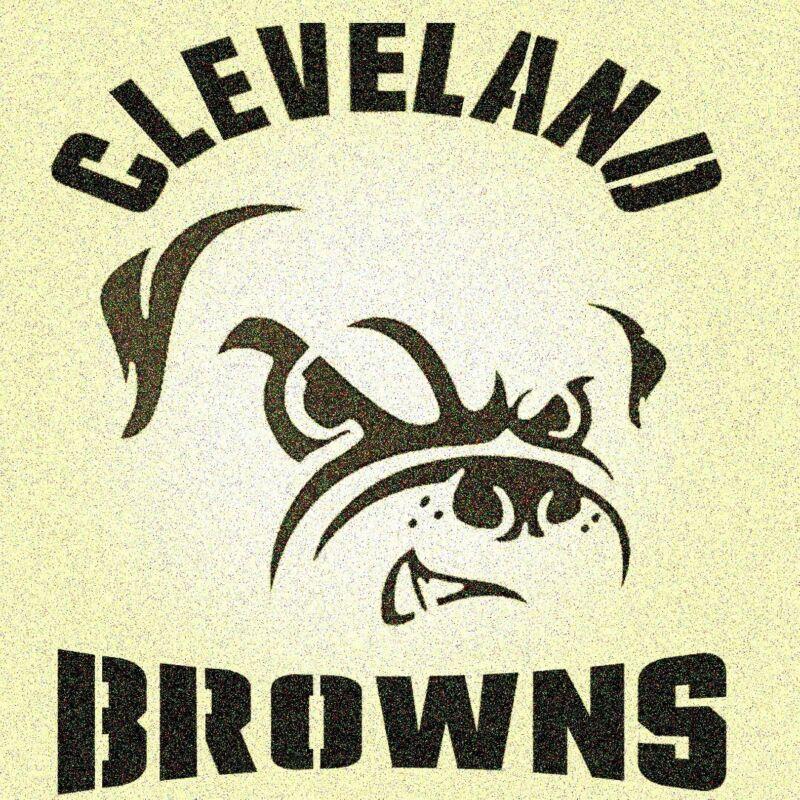 Cleveland Browns Stencil Mylar Mancave Sports Football Stencils