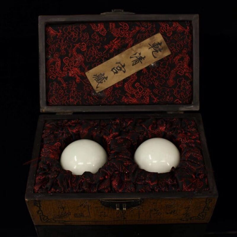 Chinese Qing Dynasty Palace collection Luminous beads + Box