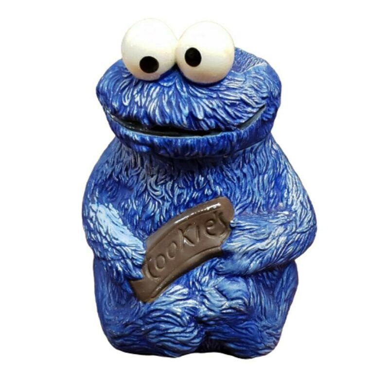 Vintage Sesame Street Cookie Monster Hand-Painted Ceramic Cookie Jar 1970