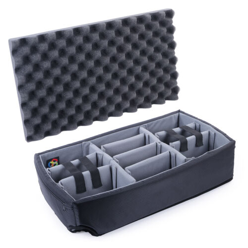 CVPKG Padded Dividers (grey) for Pelican 1510 Case. Comes with lid foam.