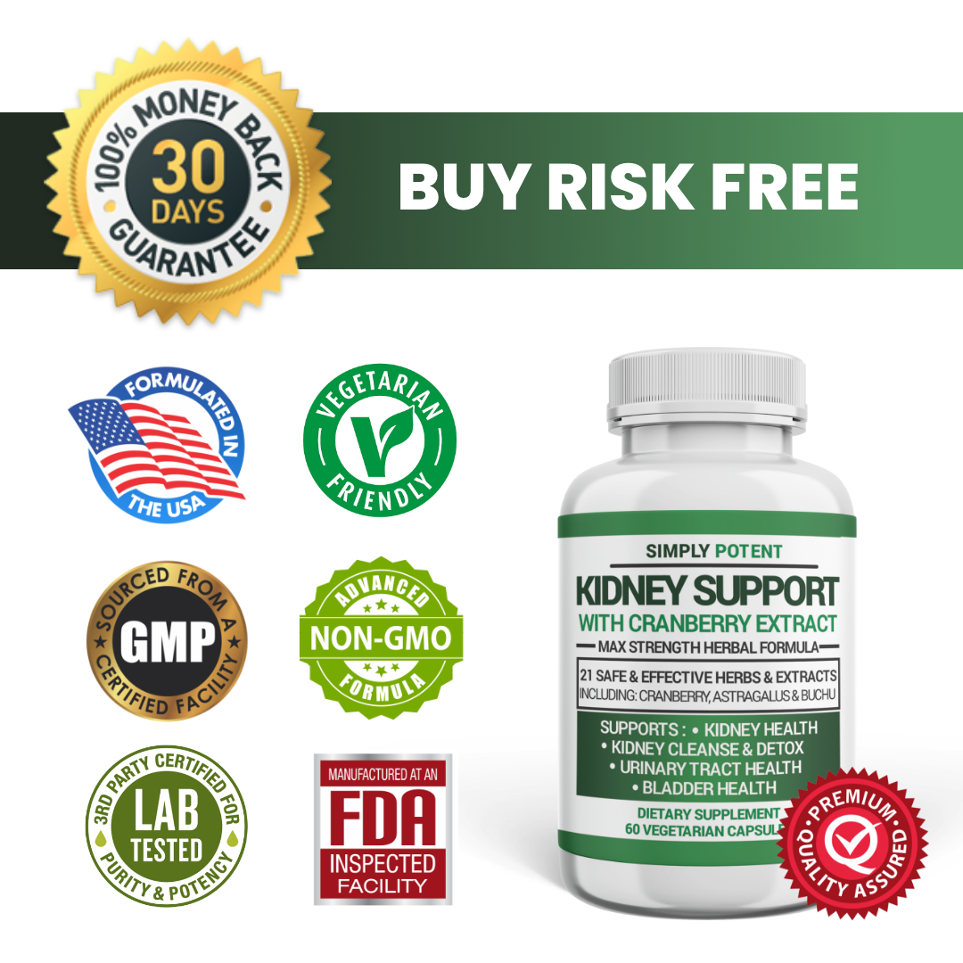 Kidney Support Restore Cleanse Detox Flush 705mg Capsule w Cranberry for UTI     6