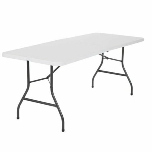 6 Ft Folding Table Centerfold Portable Outdoor Picnic Indoor Plastic Party White
