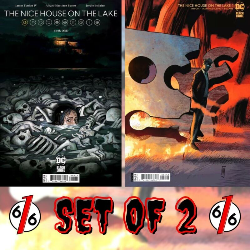 🚨🔥 NICE HOUSE ON THE LAKE #1 SET OF 2 Main Cover & Dell'Edera 1:25 Variant