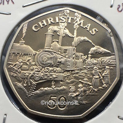 1984 IOM Xmas 50p Diamond Finish Coin with BB die marks