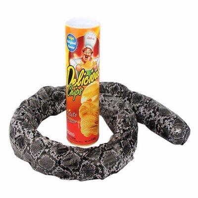 Potato Chip Can Skillful Novelty Joke Prank Jump Snake Funny Tricky Toy Gift
