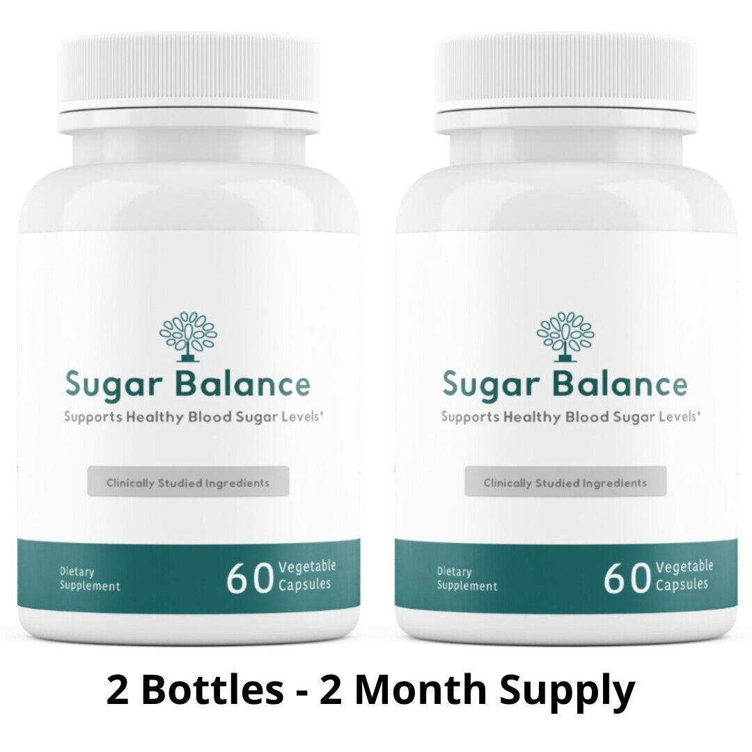 2 Bottles Sugar Balance Vegetarian Supplement 60 Capsules