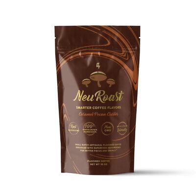 NeuRoast Caramel Pecan Cluster Mushroom Coffee | Made with Lion