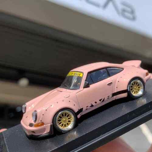 Model Collect 1:64 Porsche 911 RWB 930 pink Ducktail Diecast Model Car