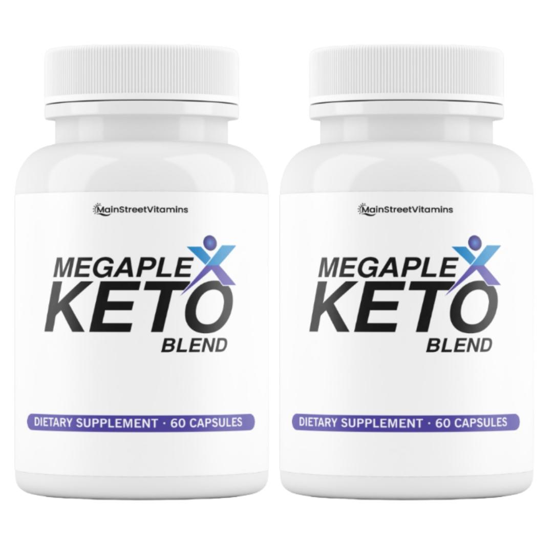 2 Bottles MegaPlex Keto Blend BHB LOSE WEIGHT BURN FAT NATURALLY - 60 cap