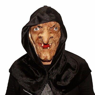 Horror Monster Hexe mit langer Nase als Party-Maske für Halloween Karneval (Hexe Maskerade Maske)