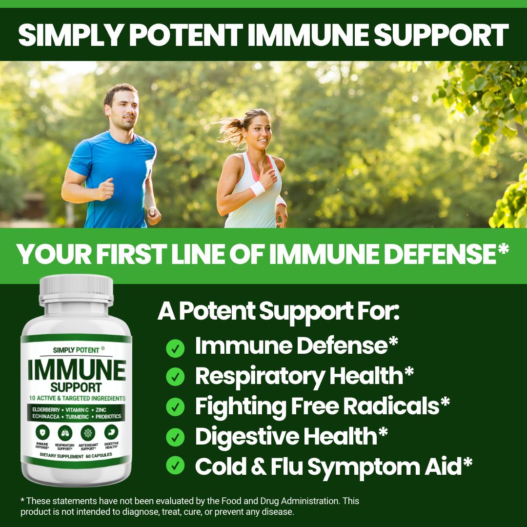 Immune Support & Immunity Booster w Elderberry Vitamin C Zinc Echinacea Turmeric 5