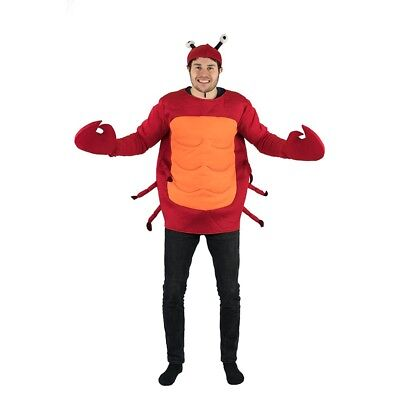 Adult Funny Crab Animal Sea Fancy Dress Costume Outfit Halloween Stag Hen (Sea Animal Halloween Costumes)