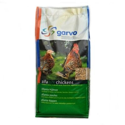 Garv2 x 12.5kg Garvo Alfamix for Chickens Premium Poultry Chicken Food 25kg 1055