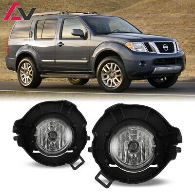 For Nissan Pathfinder 05 12 Clear Lens Bumper Pair Fog Light Lamp OE Replacement