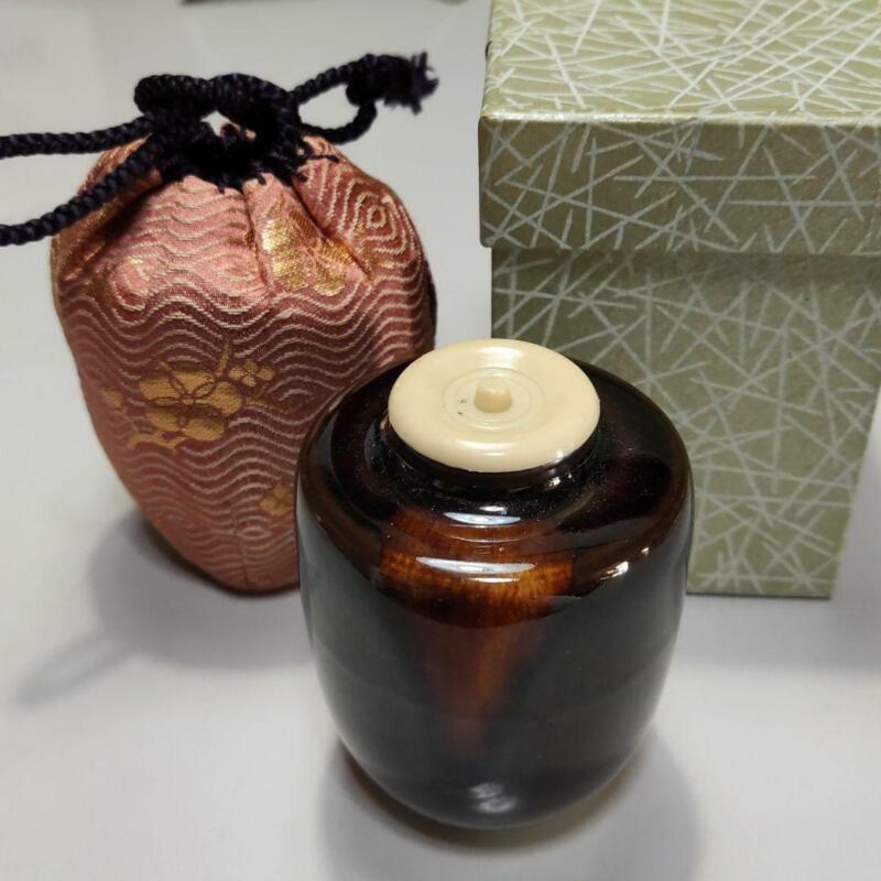 Tea Caddy Ceremony Chaire Pottery Container Japanese Traditional B-47
