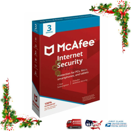 McAfee Internet Security (3 Device)(1-Year Subscription) Android|Mac|Windows|iOS