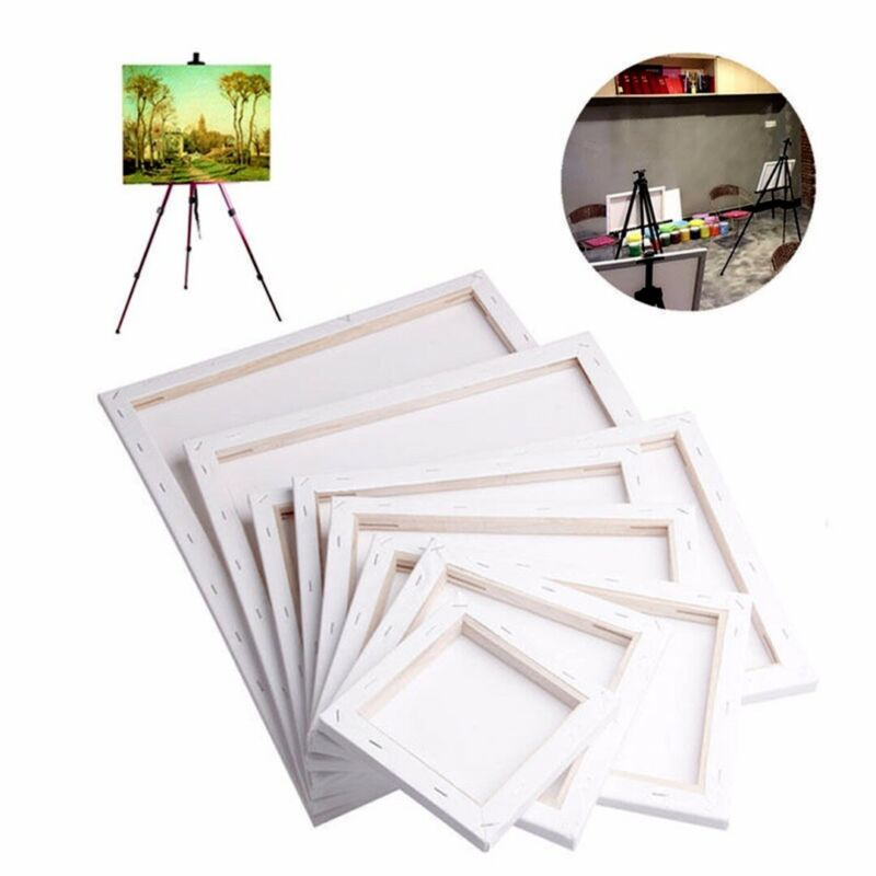 White Blank Square Canvas Board Wooden Frame For Art Artist