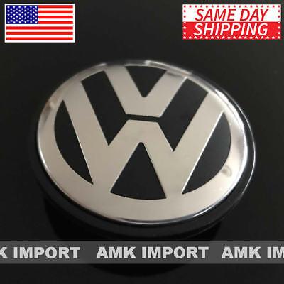 ONE Black VW Volkswagen Wheel Center Hub Cap Jetta Golf GTI Passat CC EOS 65MM