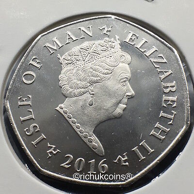 2016 IOM Xmas 50p Coin with BA die marks