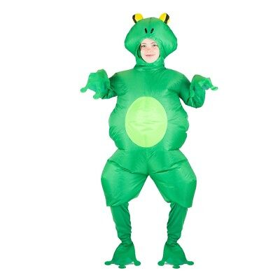 Kids Frog Costumes (Kids Inflatable Frog Animal Toad Pond Garden Funny Halloween Fancy Dress)