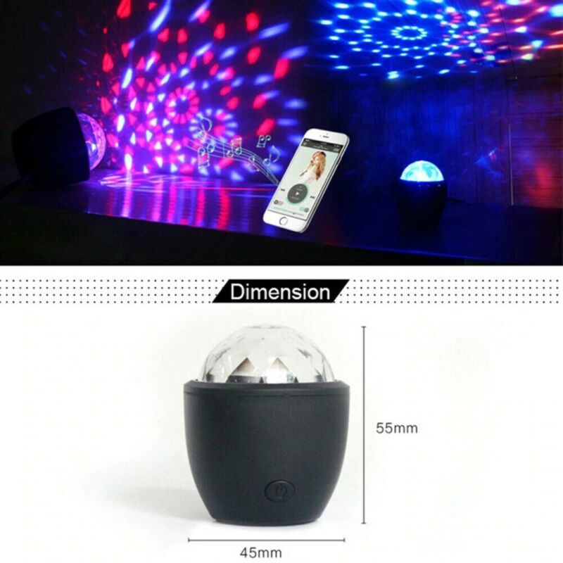 Mini Stage Magic Disco Ball Lamp Effect Rotating DJ Party Lazer LED Light PARTY