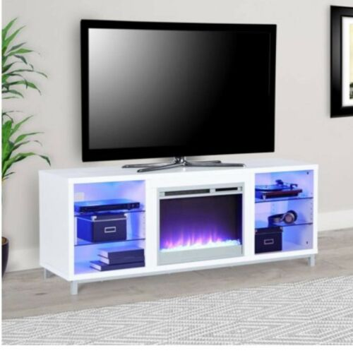 "Ameriwood Home Lumina Fireplace TV Stand for TVs up to 70"" W"