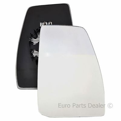 Driver Side HEATED WING DOOR MIRROR GLASS Ford Transit Custom 2012 On Clip On