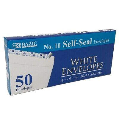 50 Self-seal White Envelopes Long Letter Shipping 4-12 X 9-12 Postal Mailing