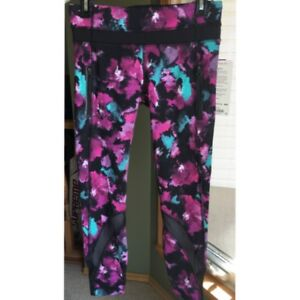 Lululemon NWT Inspire Tight II Midnight Bloom Size 6