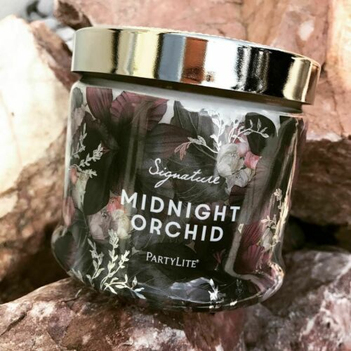 Partylite MIDNIGHT ORCHID SIGNATURE 3-wick JAR CANDLE  BRAND NEW
