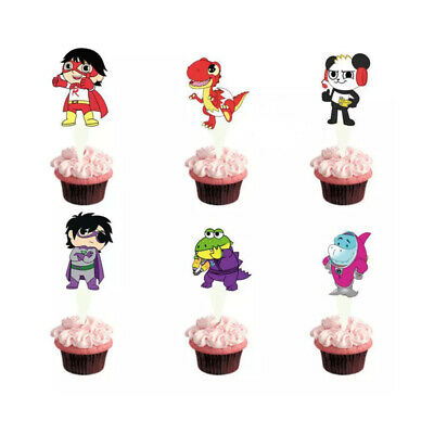 Kids Cupcake Toppers Ryans World Toppers Kids TV Star Cartoon Cupcake Toppers