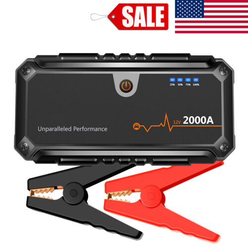 Suaoki U28 2000A Peak Car Jump Starter Booster Dual USB Powe
