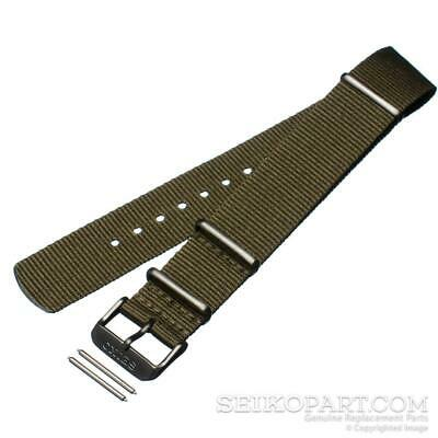 Genuine Seiko Army Green 22mm NATO Watch Band SRPD91 SRPD87