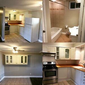 Newley renovated lower  2 bedroom unit with internet and tv