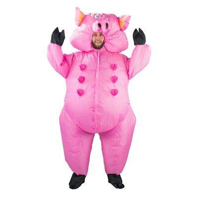 Adult Pig Pink Animal Funny Farm Yard Halloween Fancy Dress Costume Male Female](Farm Animal Costumes)
