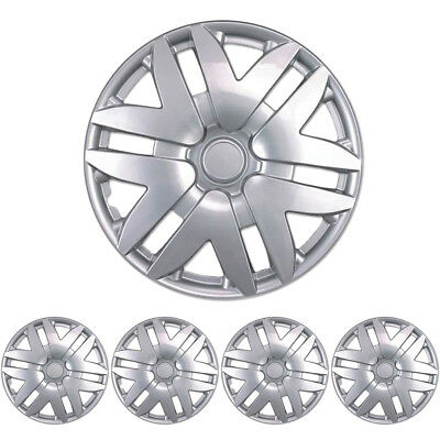 """Silver Hubcaps 16"""" Inch Wheel Cover for Car Van SUV Trucks (4 Pack)"""