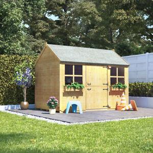 6x4 BillyOh Gingerbread Junior Children Wooden Playhouse Outdoor Garden 6ftx4ft