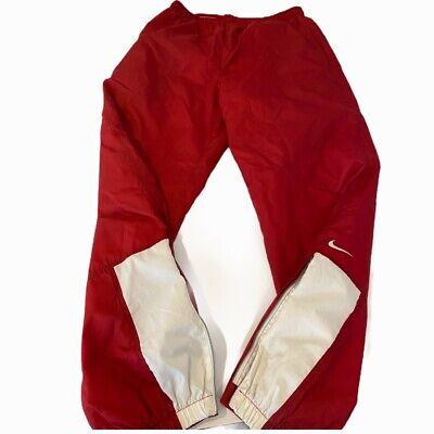 Vtg Nike Mens Windbreaker Pants sz XL Red Athletic White Nylon