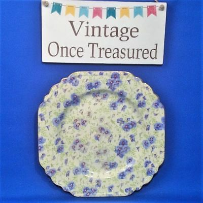 Pansy Chintz (Lord Nelson Pansy Chintz - Vintage Square Cake / Sandwich Plate (8.5
